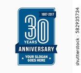 30 years anniversary design...   Shutterstock .eps vector #582935734