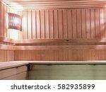 interier of a sauna | Shutterstock . vector #582935899
