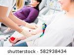 nurse in drop in department... | Shutterstock . vector #582938434