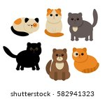 funny characters of cats in... | Shutterstock .eps vector #582941323