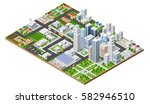 isometric urban megalopolis top ... | Shutterstock .eps vector #582946510