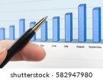 financial graphs analysis stock ... | Shutterstock . vector #582947980