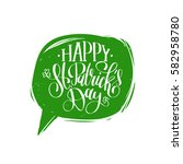 vector happy saint patrick's... | Shutterstock .eps vector #582958780