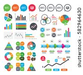 business charts. growth graph.... | Shutterstock .eps vector #582964630