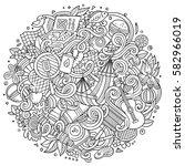 cartoon cute doodles hand drawn ...   Shutterstock .eps vector #582966019