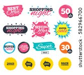 sale shopping banners. special... | Shutterstock .eps vector #582966700