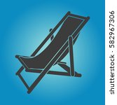 pictograph of beach chair. flat ... | Shutterstock .eps vector #582967306