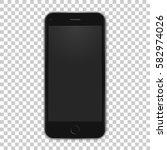 vector black mobile template... | Shutterstock .eps vector #582974026