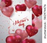 happy mothers day. vector... | Shutterstock .eps vector #582974476