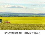 small scale farming with... | Shutterstock . vector #582974614