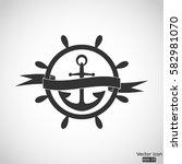 nautical icon   vector ... | Shutterstock .eps vector #582981070