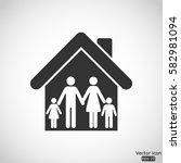 family icon   vector ... | Shutterstock .eps vector #582981094
