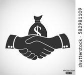 financial deal icon   vector ... | Shutterstock .eps vector #582981109