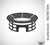 stadium icon   vector ... | Shutterstock .eps vector #582987304