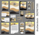 corporate identity  yellow ... | Shutterstock .eps vector #582987550
