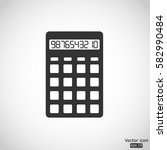 calculator icon   vector ... | Shutterstock .eps vector #582990484