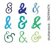 set of decoration ampersands... | Shutterstock .eps vector #582994474