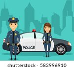 a young girl with a guy... | Shutterstock .eps vector #582996910