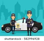 employees of the federal bureau ... | Shutterstock .eps vector #582996928