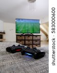 playing video game. console... | Shutterstock . vector #583000600