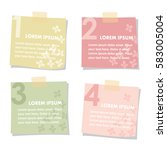 set of sticky notes papers with ... | Shutterstock .eps vector #583005004