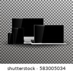 set of blank screens.technology ...   Shutterstock .eps vector #583005034