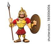 cartoon roman army was standing ... | Shutterstock .eps vector #583006006