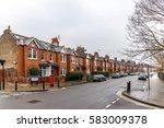 chiswick suburb in winter ... | Shutterstock . vector #583009378