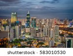 financial center of panama city ... | Shutterstock . vector #583010530