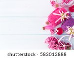 beautiful spa composition with... | Shutterstock . vector #583012888