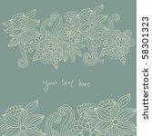 floral background   Shutterstock . vector #58301323