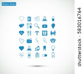 medical icons set  vector best... | Shutterstock .eps vector #583016764