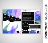 elegant brochure   flyer  ... | Shutterstock .eps vector #583018618