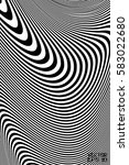 abstract black and white... | Shutterstock .eps vector #583022680