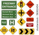 road signposts | Shutterstock .eps vector #58302454
