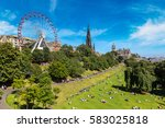 the walter scott monument in... | Shutterstock . vector #583025818