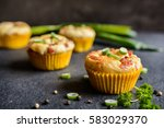 Salty Muffins With Bacon  Gree...