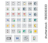 icons set. flat colored... | Shutterstock . vector #583030333