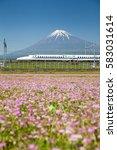 shizuoka   may 05   shinkansen...   Shutterstock . vector #583031614