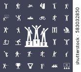 winners icon   vector... | Shutterstock .eps vector #583032850