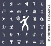tennis icon vector illustration.... | Shutterstock .eps vector #583032928