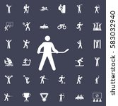 hockey icon vector illustration.... | Shutterstock .eps vector #583032940