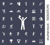 winners icon   vector... | Shutterstock .eps vector #583035190