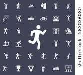 running man icon. sport icons... | Shutterstock .eps vector #583036030