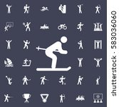 ski icon. sport icons universal ... | Shutterstock .eps vector #583036060
