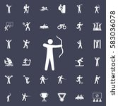 archer icon. sport icons... | Shutterstock .eps vector #583036078