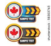 canadian flag gold arrow... | Shutterstock .eps vector #58303765