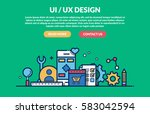 ui ux design concept for web...