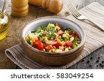 traditional israeli healthy... | Shutterstock . vector #583049254