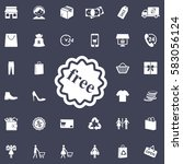 free price tag icon. | Shutterstock .eps vector #583056124